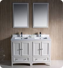 Bathroom Cabinet With Mirror Fresca Oxford Traditional 48