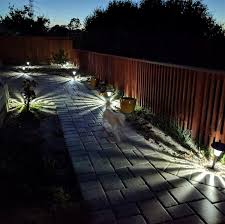 Bright Solar Landscape Lights Brightest Solar Garden Lights For The Backyard Thoughtworthy
