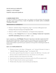 Resume Example Objectives Career by Career Objectives For Resume For Engineer Resume For Your Job