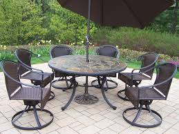 Round Stone Patio Table by Furniture Classic Look Of Wrought Iron Patio Dining Set Nu