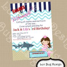 how to make pool party invitations printable sharks u0026 mermaids birthday or pool party invitation
