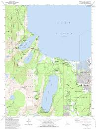 San Francisco Topographic Map by Emerald Bay Topographic Map Ca Usgs Topo Quad 38120h1