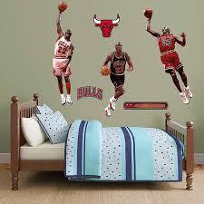 Stick Wall Chicago Bulls Michael Jordan Fathead Real Big Peel And Stick Hero