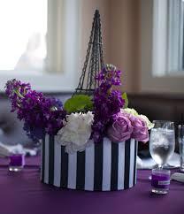 purple ivory wedding colors parisian themed wedding