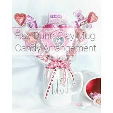valentine u0027s day gift idea rae dunn clay mug candy arrangement