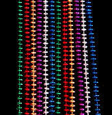 mardi gras beaded necklaces mardi gras party sport team colors school colors