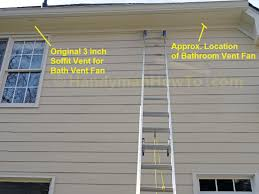 insulation around bathroom heater fan how to install a soffit vent and ductwork for a bathroom vent fan