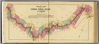 ohio river valley map map to atlas of the ohio river valley eli l 1877