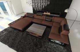 U Shape Sofa Set Designs Modern Fabric Sectional Sofa Orlando Led