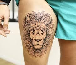 best 25 lion tattoo on thigh ideas on pinterest lion tattoos on