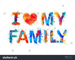my family stock vector 448420321