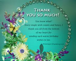 birthday thanks message for family thank you messages for birthday