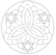 easy mandala coloring pages more line of symmetry radial free