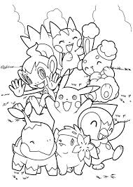 pokemon coloring pages pikachu and friends coloringstar