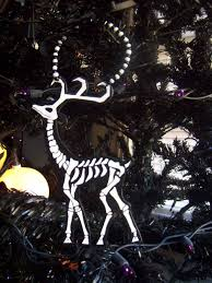 skeleton reindeer ornament 5 00 via etsy black
