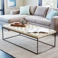 Metal Tray Coffee Table Metal Ottoman Tray Foter