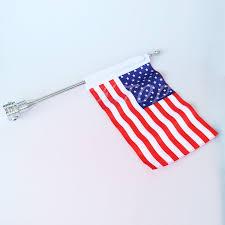 Usa Flag Photos Motorrad Chrome Seitenmontage Fahnenstange Mit Usa Flagge Für