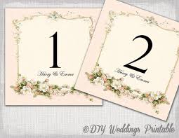 printable table numbers template diy pink wedding number card
