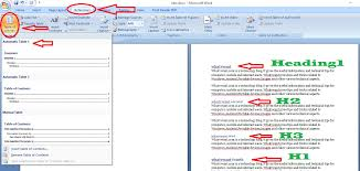 create table of contents in word quick guide to create table of contents in word whatvwant