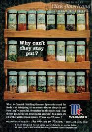Antique Spice Rack Mccormick Schilling Spice Racks 1964 Click Americana