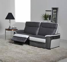 canapé relaxation electrique canapé 3 places relax electrique idaho luba gris foncé pu blanc