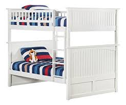 amazon com nantucket bunk bed full over full white kitchen