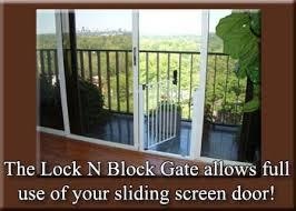 Patio Door Gate Lock N Block Sliding Door Gate By Cardinal Gates For Sliding Glass