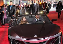 acura supercar avengers robert downey jr prance around in tony stark u0027s 9 million car at