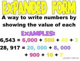 place value in expanded form math nsn numbers to 10000 ms s class website