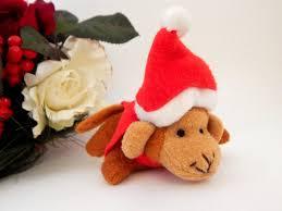 monkey santa claus christmas tree ornament stuffed zoo jungle