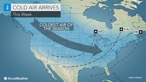 coldest air of the season yet to freeze much of us