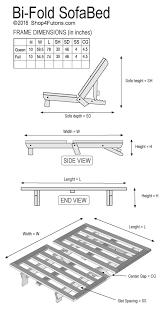 bi fold sofa bed futon couch wood futon frame shop4futons com