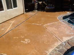 How To Stain Concrete Patio Yourself How To Apply Multi Color Concrete Stain 8 Steps With Pictures