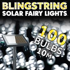 Solar Powered Outdoor Fairy Lights by Blingstring Outdoor Solar Fairy Lights White 100 Leds Amazon Co