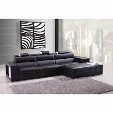 Mini Sectional Sofas Casa Polaris Mini Contemporary Bonded Leather Sectional Sofa
