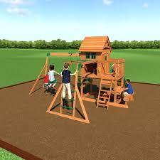 amazon com backyard discovery springboro all cedar wood playset