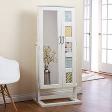 Armoire With Hanging Space Armoire With Hanging Space Standing Jewelry Box Mirror Solid Wood