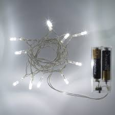 10 led white battery operated lights on clear cable