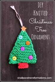 knitted tree ornament