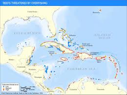 Bermuda World Map Reefs Threatened By Overfishing World Resources Institute