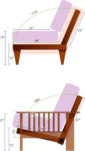average height of couch seat the geometry of futon comfort