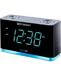 clock radio with night light savings on emerson smartset alarm clock radio with bluetooth speaker