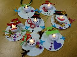 votive snowman ornaments choices for children
