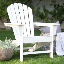 Outdoor Furniture Plastic by Belham Living Belmore Recycled Plastic Classic Adirondack Chair