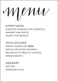 wedding menu templates free stylish templates for your wedding menu wedding