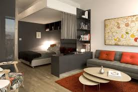 small modern apartments white wall paint color dark brown