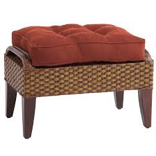 decorating sophisticated rattan ottoman for home inspirations