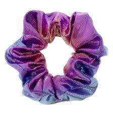 claires hair accessories holographic mermaid hair scrunchie s us