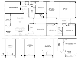 50 floor plans for ranch homes with 4 bedrooms bedroom house