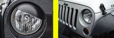 jeep light covers angry jeep headlight covers jeep half moon headlight covers